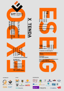 EXPO ESEIG Festival poster for tent