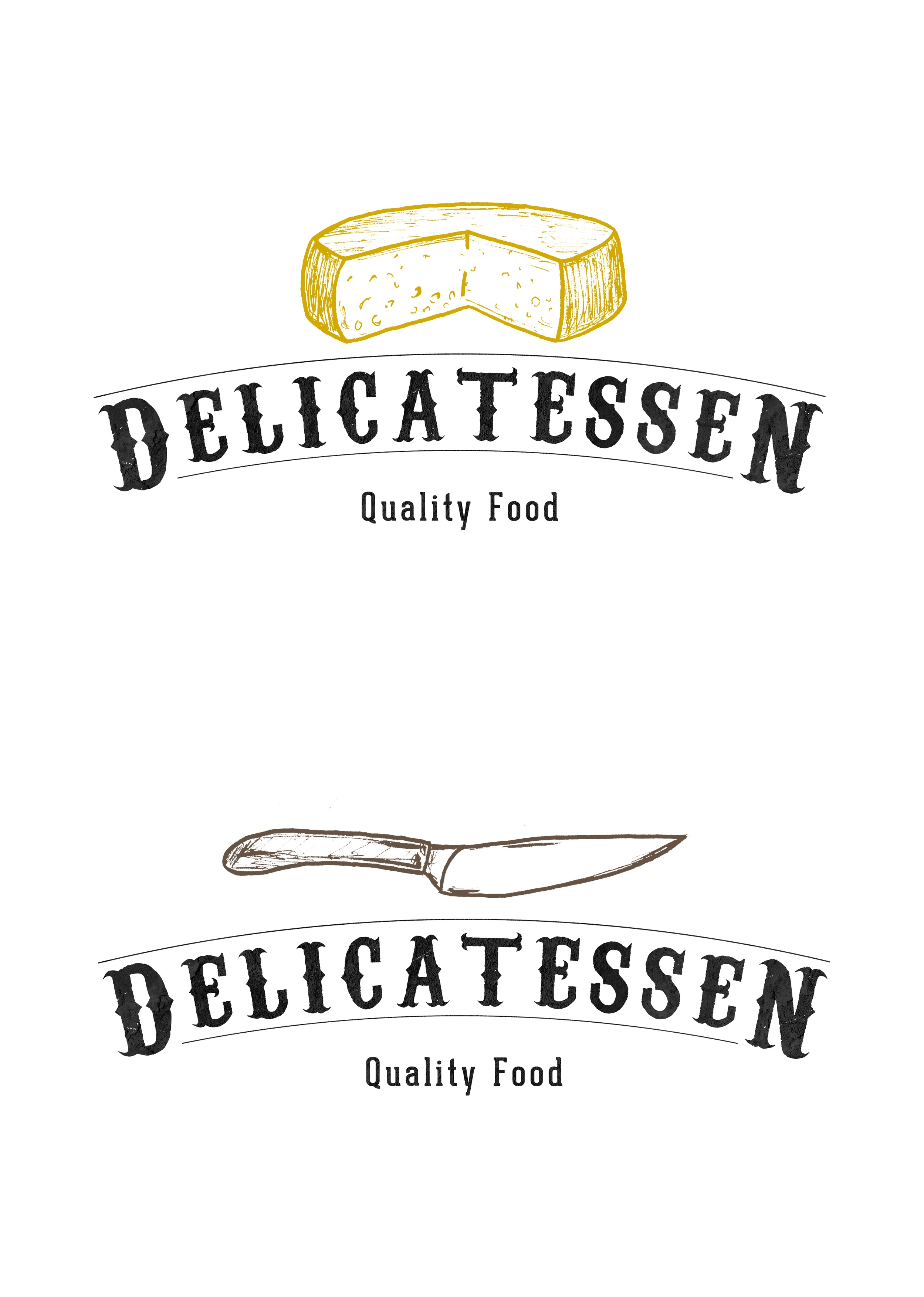 Delicatessen butcher illustration from portugal