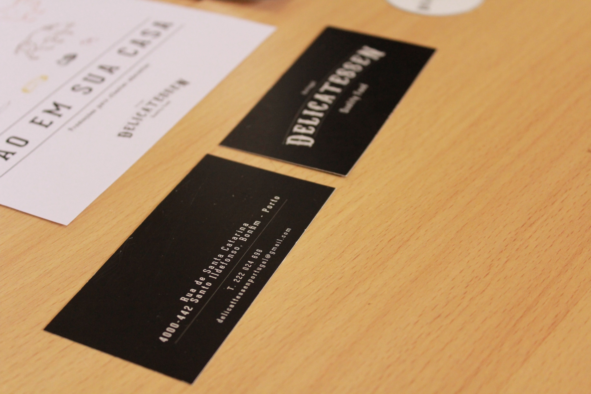 Delicatessen butcher business card